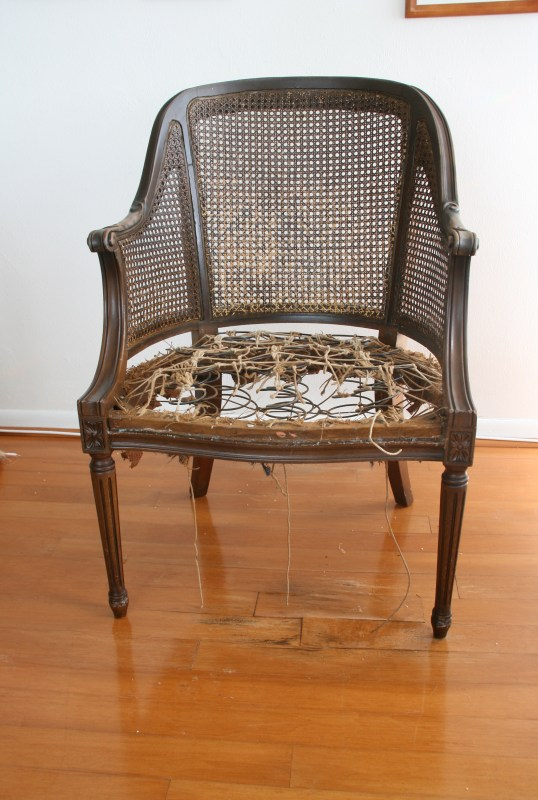 old chair stripped
