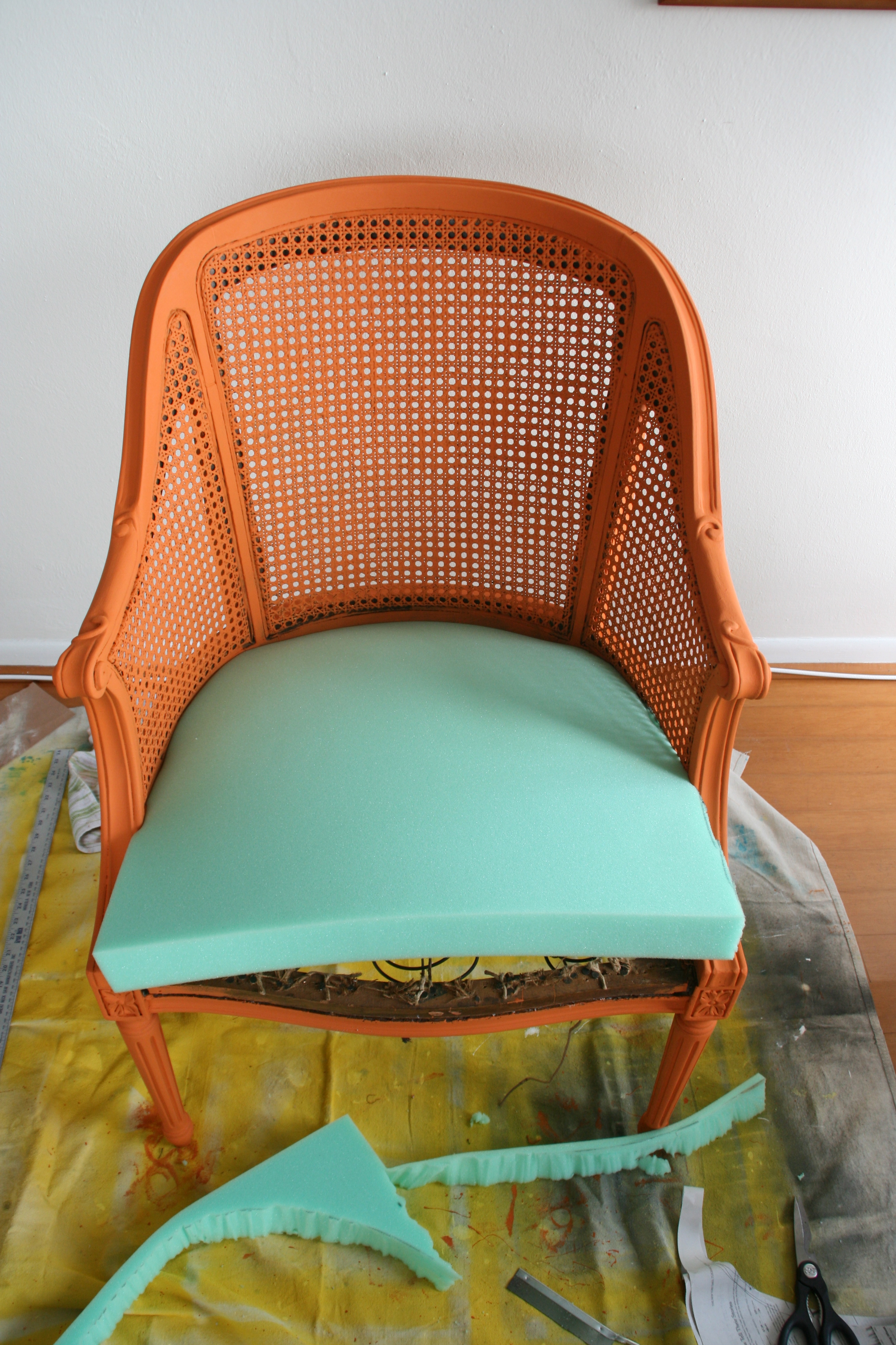 outdoor chair cushion covers steel folding chairs how to reupholster a - infarrantly creative