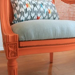 Orange Wicker Chair Cushions Folding Storage Rack How To Reupholster A Infarrantly Creative