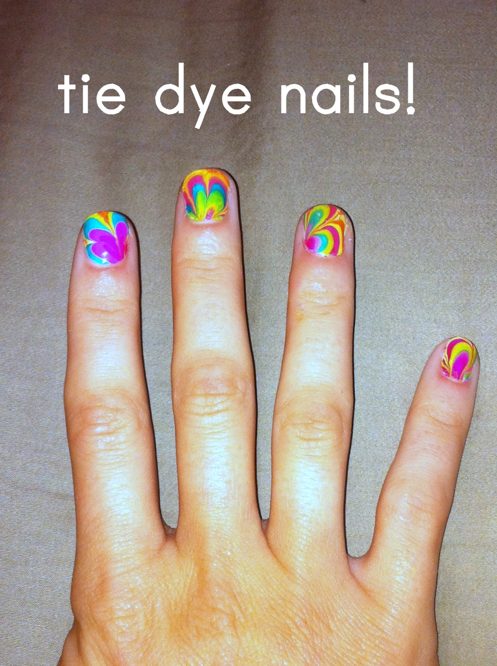C R A F T # 82 Tie Dye Nails Nail Design Marble Nails