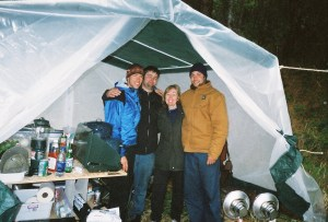 living in a tent  firebrink