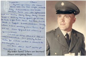 I wrote this letter to my parents when we heard Bruce was going to Nam.