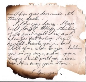 letter from Bruce to Shaun