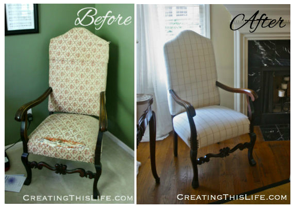 Chair Before and After at Creating This Life