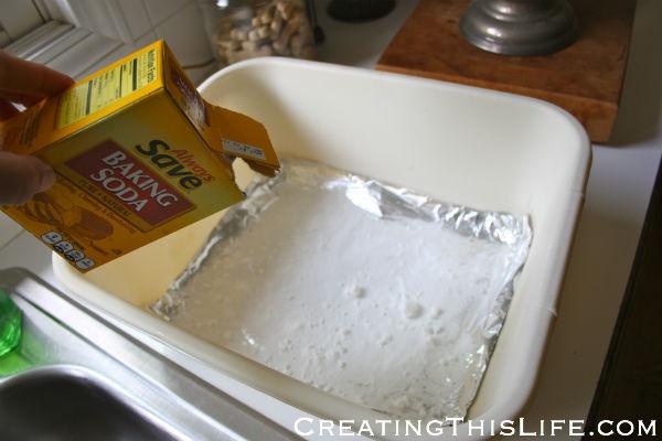 Silver Polishing with Baking Soda at CreatingThisLife.com