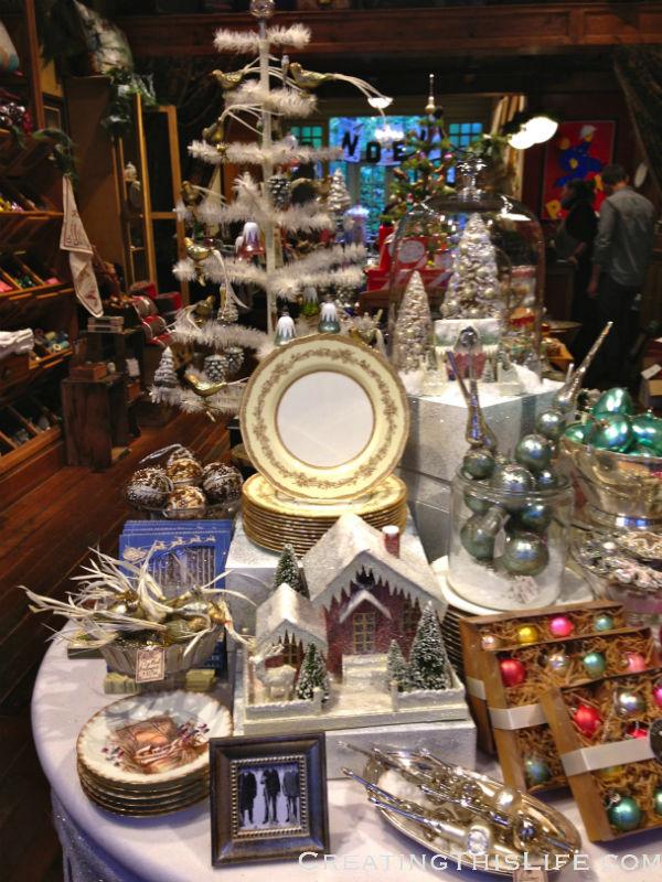 Chicago home decor store Christmas display