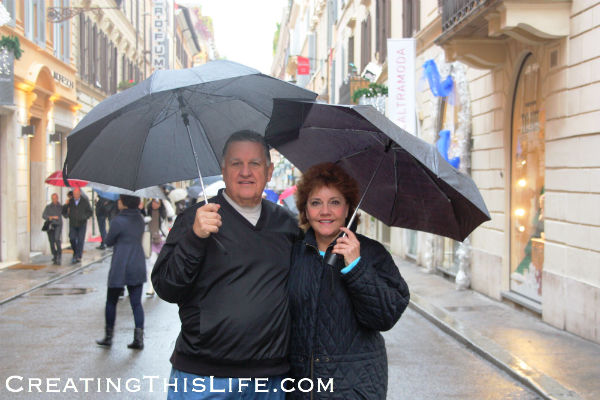 Mom and Dad in Rome