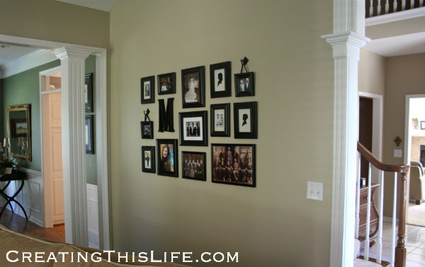 Picture wall at CreatingThisLife.com