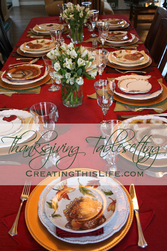Thanksgiving Table with Turkey Plates