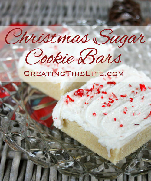 Christmas Sugar Cookie Bars With Peppermint Sprinkles Creating