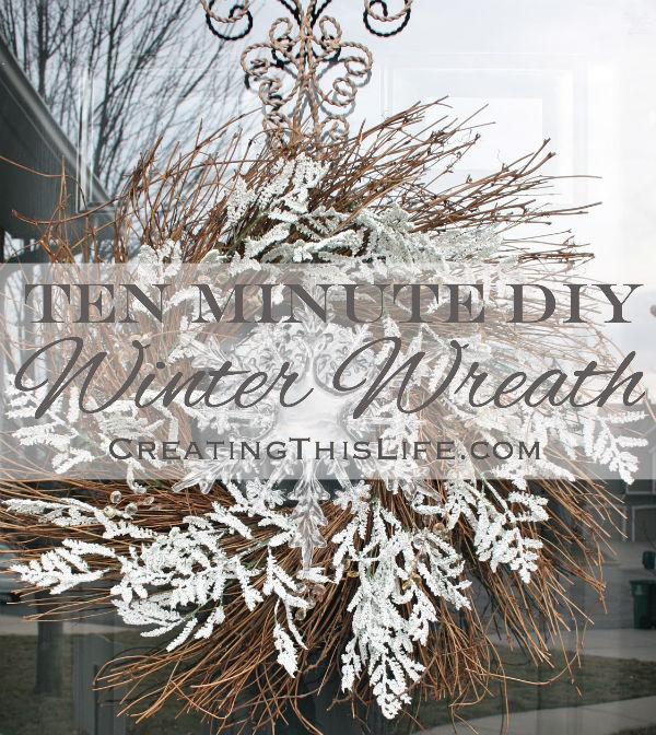 Ten Minute DIY Winter Wreath