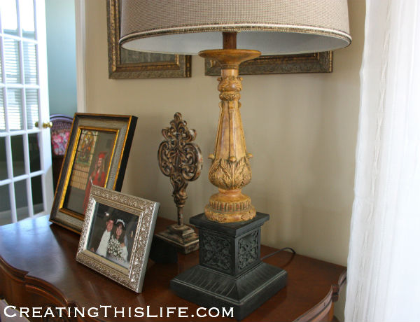Carved Architectural Lamp