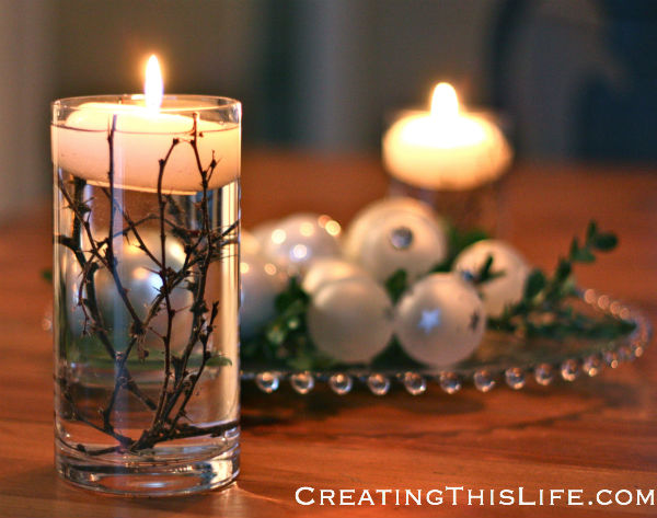 Easy Winter Centerpiece