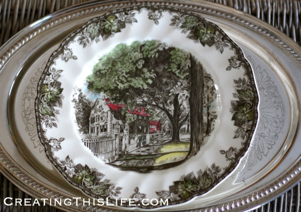 Friendly Village Johnson Bros Plate
