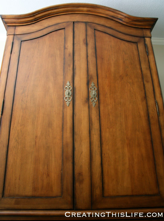 Bedroom armoire closed