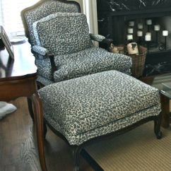 French Bergere Chair Hanging Wicker And Ottoman Creating This Life