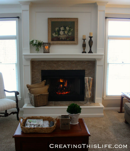 Family Room fireplace view
