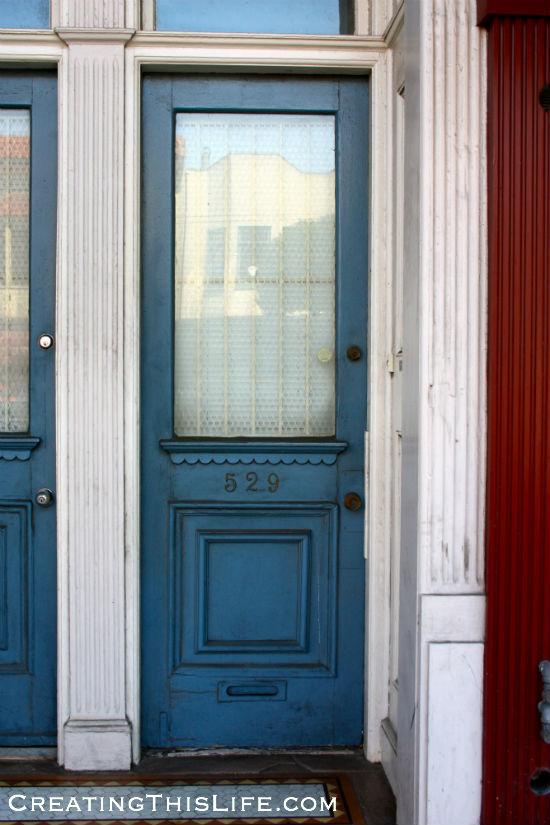 blue-san francisco-door