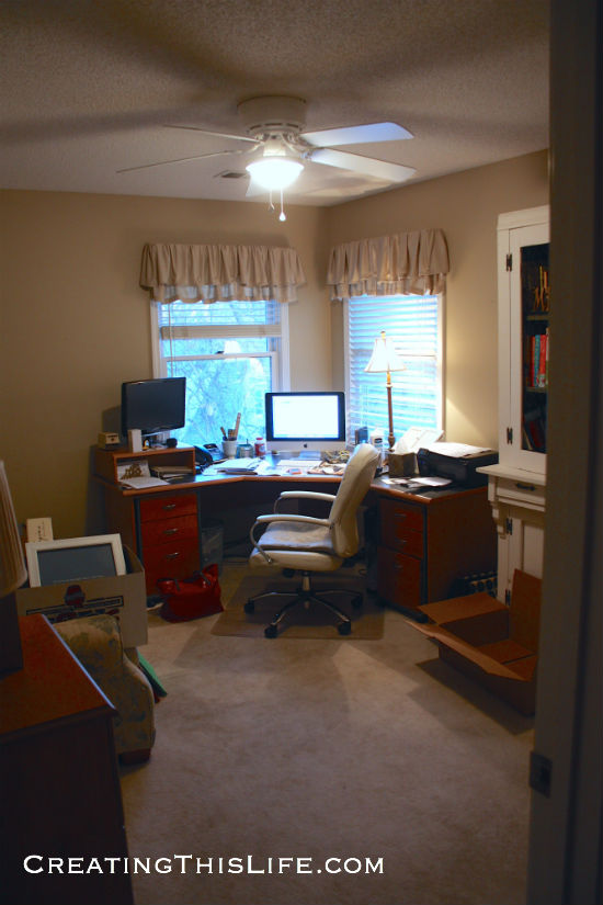 home office makeover before picture