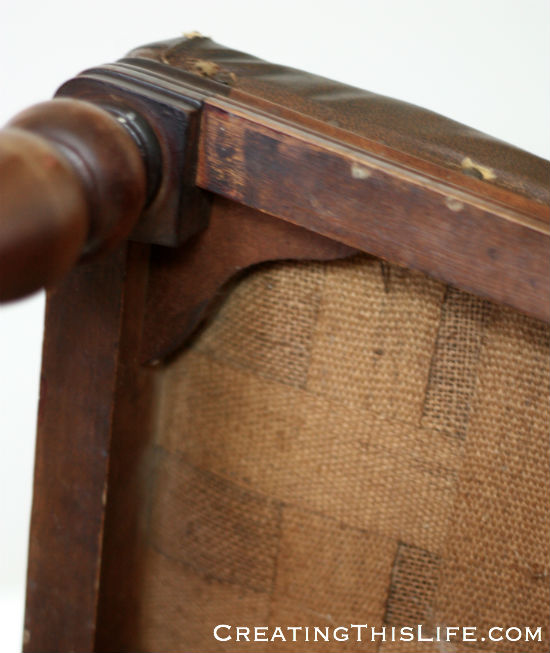 Antique chair makeover at CreatingThisLife.com
