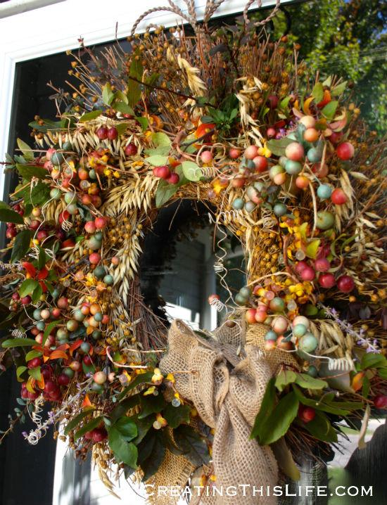 Fall wreath creatingthislife.com