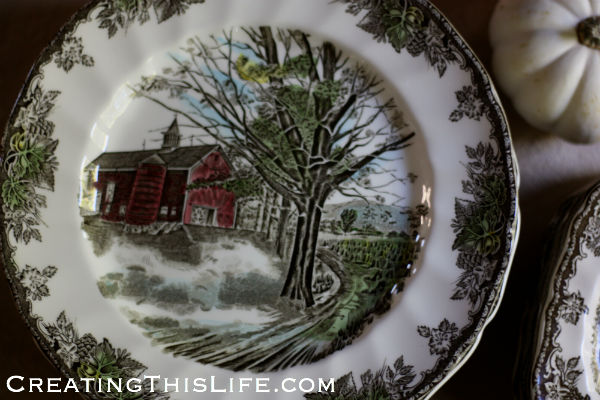 Johnson Brother Friendly Village Autumn Mist dinner plate vintage