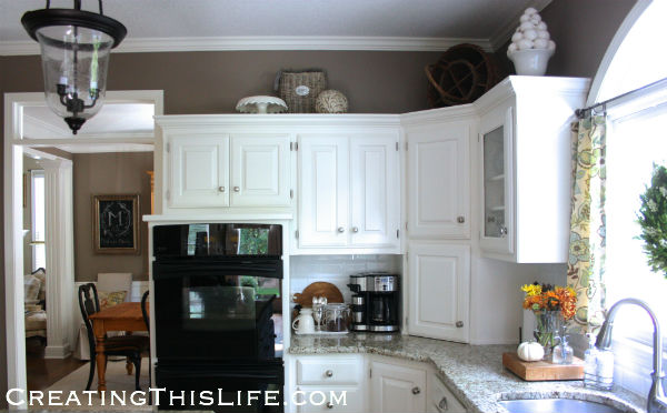 Neutral kitchen at CreatingThisLife.com