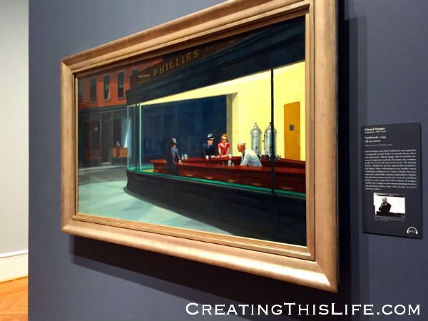 Nighthawks at Chicago Art Institute