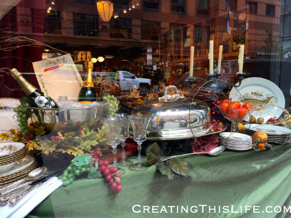 POSH Chicago Thanksgiving window display