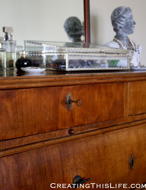 Antique dresser at CreatingThisLife.com