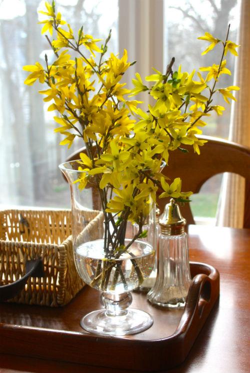 Spring Forsythia at CreatingThisLife.com