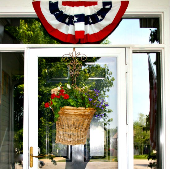 Red-white-and-blue-bunting-over-front-door