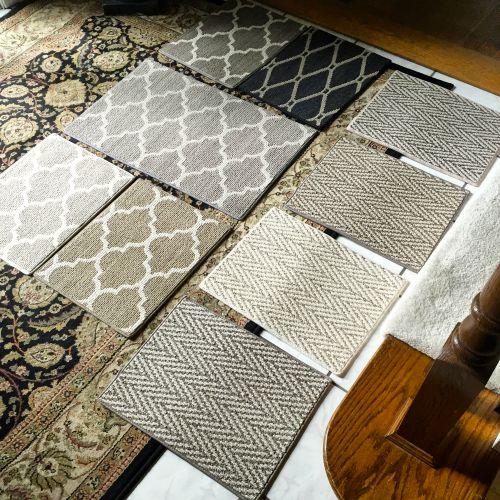 Stairway carpet samples