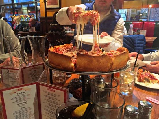 Giordanos Pizza Chicago Rush Street