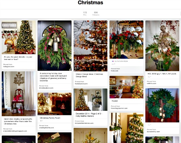 Christmas Pinterest Board