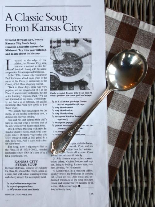 Kansas City Plaza III Steak Soup Recipe
