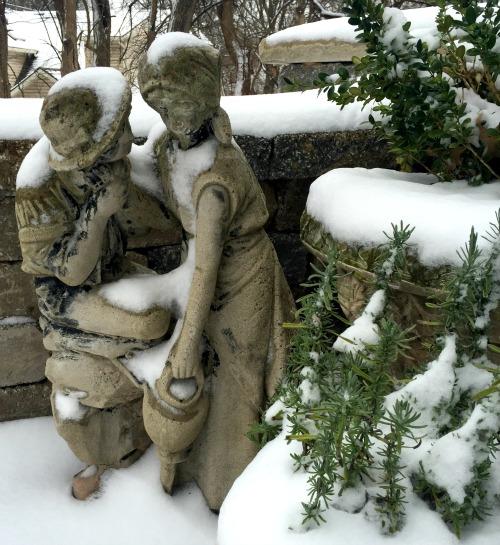 winter statue