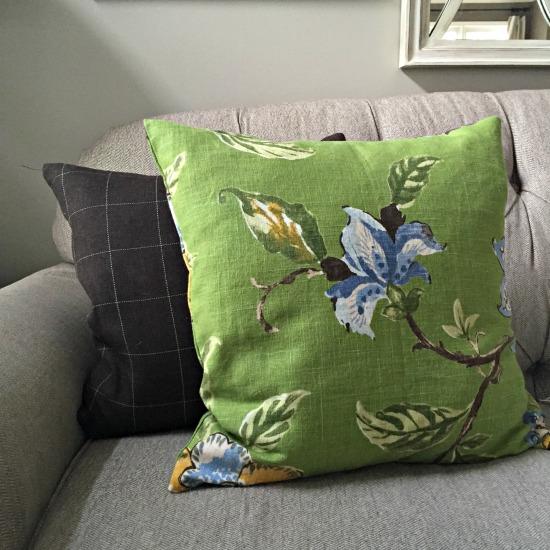 Green custom pillows