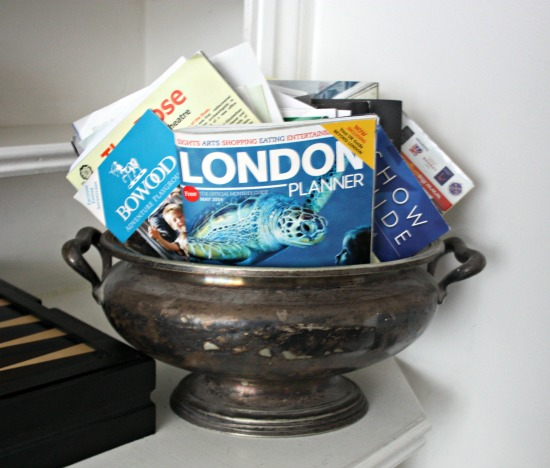 London maps in silver