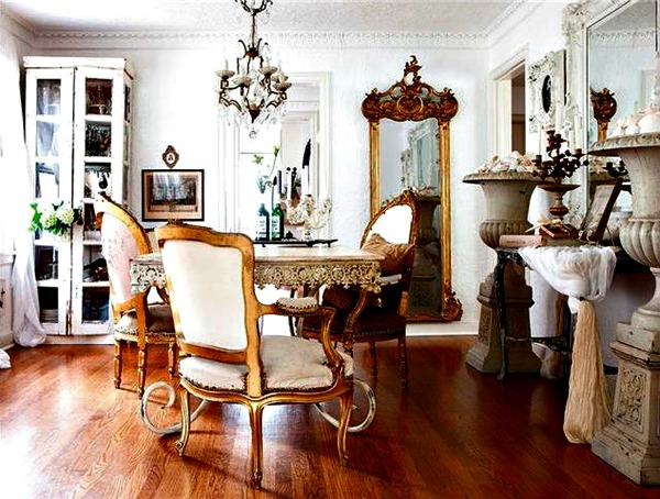 french inspired kansas dining room