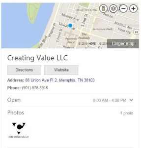 Creating Value LLC Bing Places Result
