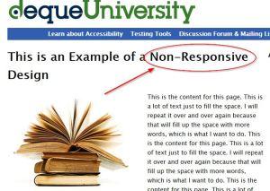 un exemple de site non responsive