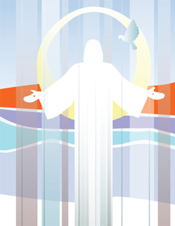 Graphic of the risen Christ