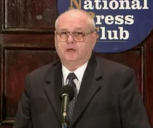 Robert Jamieson, former Combat Missile Targeting Team Commander for the US Air Force, speaking at the National Press Club Conference on 27 September, 2010