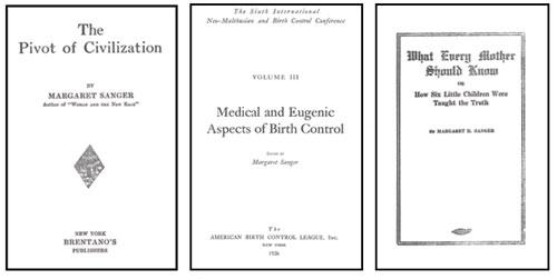 Sanger's openly eugenic books