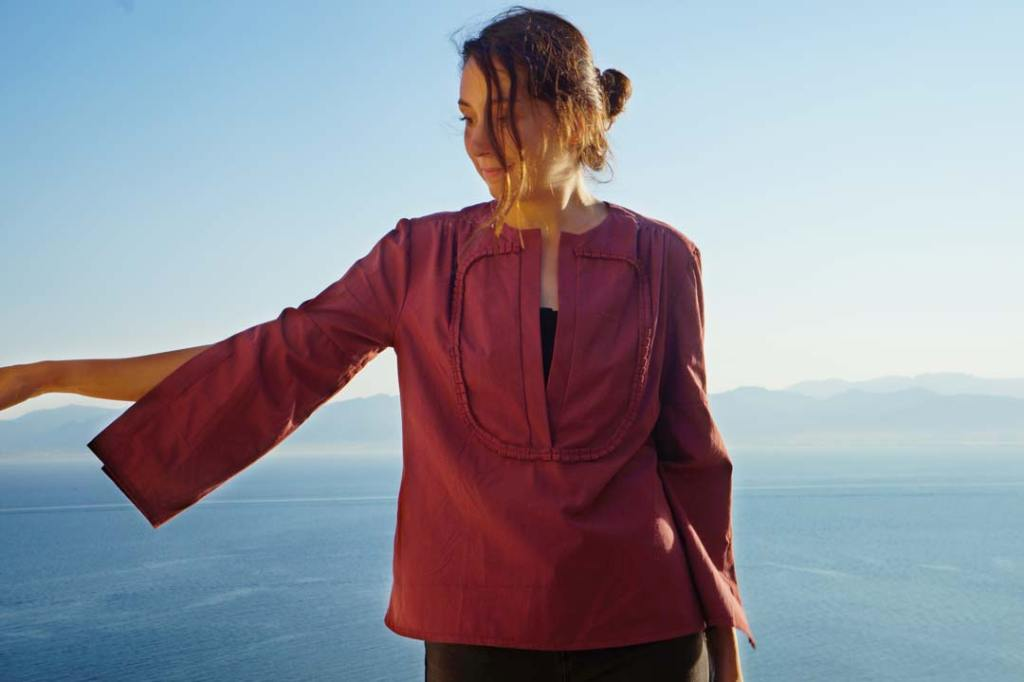 NATI - créations d'une rêveuse | Créatrice de mode | Annecy & Villaz | Blouse Alegria - modèle éco-responsable - automne hiver 2019