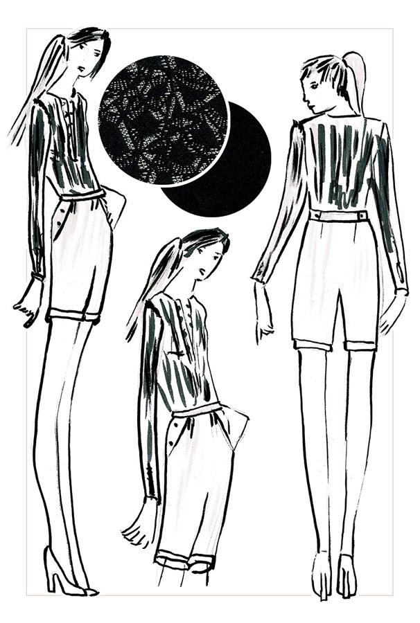 NATI - créations d'une rêveuse | Créatrice de mode | Annecy & Villaz | collection automne hiver 2020 - body Amy et short Roxane