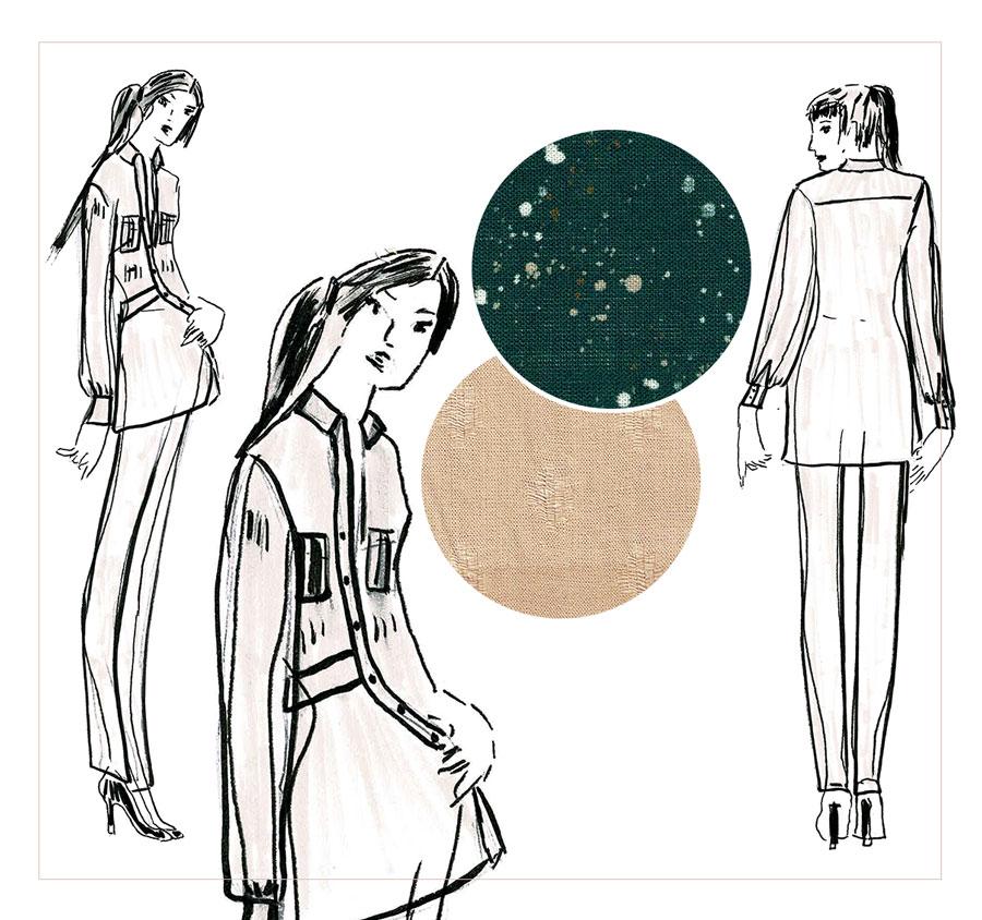 NATI - créations d'une rêveuse | Créatrice de mode | Annecy & Villaz | collection automne hiver 2020 - chemise Rosemary