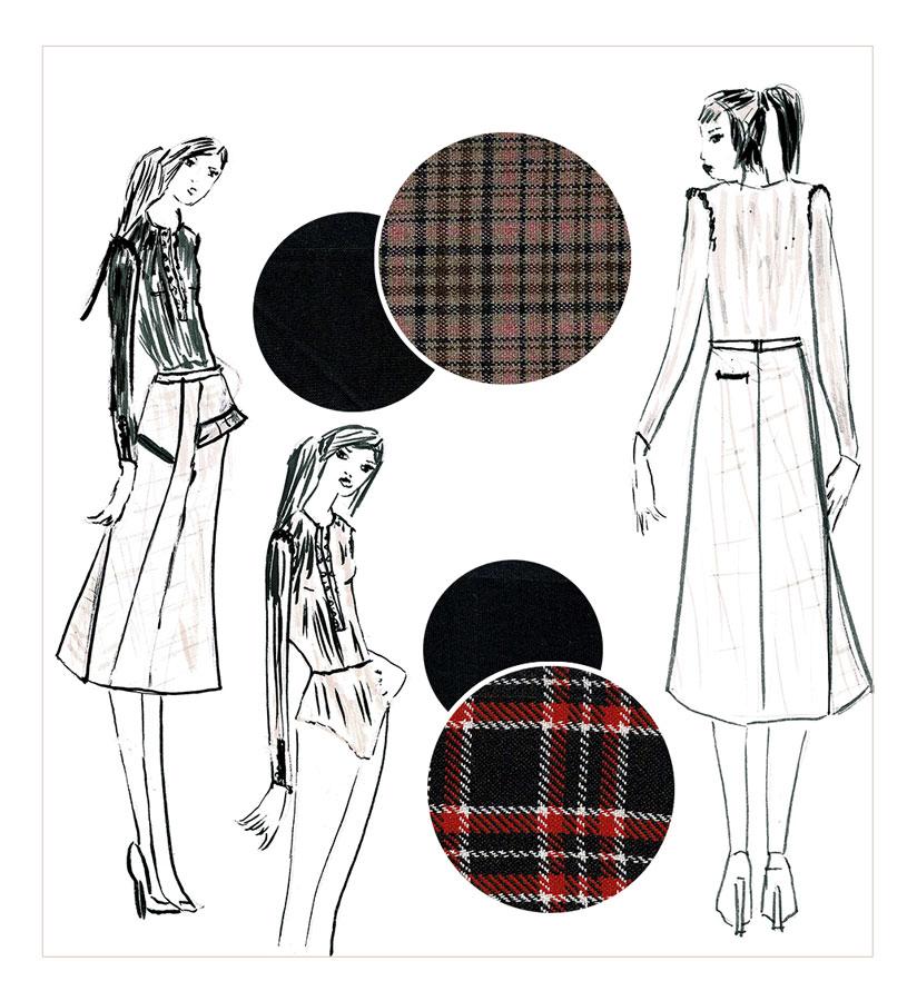 NATI - créations d'une rêveuse | Créatrice de mode | Annecy & Villaz | collection automne hiver 2020 - jupe Izia et body Amy