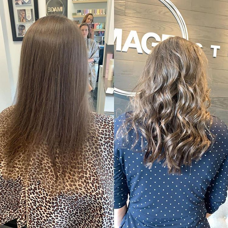 Before and after Hair extension in Greenville SC